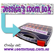 Personalised Loom Band Storage Box and Carry Case - Sketchi Design - Purple