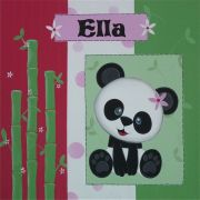 Personalised Kids Name Canvas Wall Art Canvas Name Plaque Personalised - Handpainted Panda