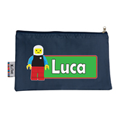 Pencil Case Large - Block Man Choice of hot pink or navy