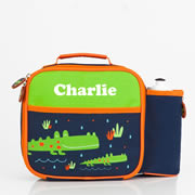 Pre School Lunch Bag / Lunchbox Personalised - Crocodile