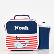 Pre School Lunch Bag / Lunchbox Personalised -Whale of a time