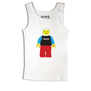 Block Man - Singlet Personalised for Kids