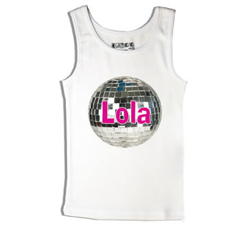 Disco Ball - Singlet Personalised for Kids