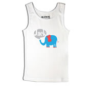 Elephant Blue - Singlet Personalised for Kids