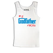 Godfather Rocks - Singlet Personalised for Kids