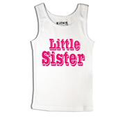 Litlle Sister - Singlet Personalised for Kids
