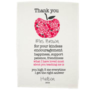 Personalised Tea Towel - An Apple For The Teacher