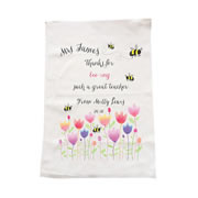 Personalised Tea Towel - Bee-ing A Great Teacher