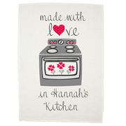 Personalised Tea Towel - Made with love