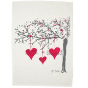 Personalised Tea Towel - Lovers Tree