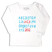 Personalised clothing for kids - Abc Red - T-Shirt Personalised for Kids