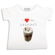 Personalised clothing for kids - Babycino - T-Shirt Personalised for Kids