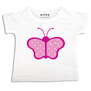 Personalised clothing for kids - Butterfly - T-Shirt Personalised for Kids