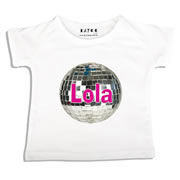 Personalised clothing for kids - Disco Ball - T-Shirt Personalised for Kids