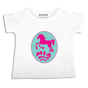 Personalised clothing for kids - Horsey - T-Shirt Personalised for Kids