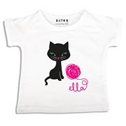 Personalised clothing for kids - Kitty Cat - T-Shirt Personalised for Kids