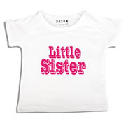 Personalised clothing for kids - Little Sister - T-Shirt Personalised for Kids