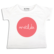 Personalised clothing for kids - Melon Dot - T-Shirt Personalised for Kids