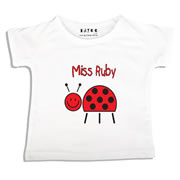 Personalised clothing for kids - Miss Ladybug - T-Shirt Personalised for Kids