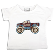 Personalised clothing for kids - Monster Truck - T-Shirt Personalised for Kids