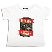Personalised clothing for kids - Motorbike - T-Shirt Personalised for Kids