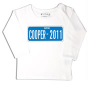 Personalised clothing for kids - Number Plate Blue - T-Shirt Personalised for Kids
