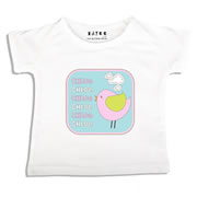 Personalised clothing for kids - Pastel Bird - T-Shirt Personalised for Kids