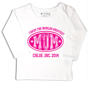 Personalised clothing for kids - Pink - T-Shirt Personalised for Kids