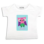 Personalised clothing for kids - Pink Owl - T-Shirt Personalised for Kids