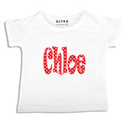Personalised clothing for kids - Polka Dots - T-Shirt Personalised for Kids