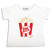 Personalised clothing for kids - Pop Corn - T-Shirt Personalised for Kids