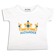 Personalised clothing for kids - Prince Crown - T-Shirt Personalised for Kids