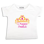 Personalised clothing for kids - Princess Crown - T-Shirt Personalised for Kids