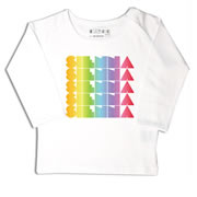 Personalised clothing for kids - Rainbow Gradient - T-Shirt Personalised for Kids