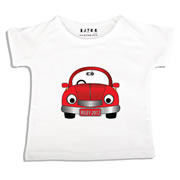 Personalised clothing for kids - Red Car - T-Shirt Personalised for Kids
