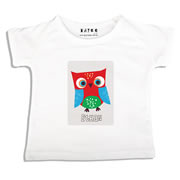 Personalised clothing for kids - Red Owl - T-Shirt Personalised for Kids