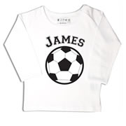 Personalised clothing for kids - Soccer - T-Shirt Personalised for Kids
