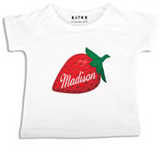 Personalised clothing for kids - Strawberry - T-Shirt Personalised for Kids