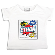 Personalised clothing for kids - Super Hero Comic - T-Shirt Personalised for Kids