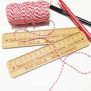 Personalised wooden bamboo   - Ruler