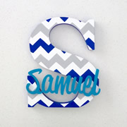Personalised Wooden Letters for kids - Chevron Boy