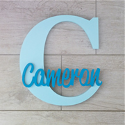 Personalised Wooden Letters for kids - Ice Blue