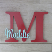 Personalised Wooden Letters for kids - Raspberry