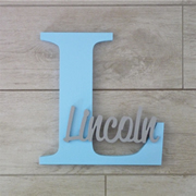 Personalised Wooden Letters for kids - Sky Blue