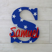 Personalised Wooden Letters for kids - Stars