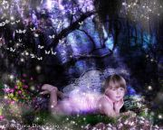 Kids and Baby Fantasy Photo Illustration 'Where Fairies Live'