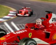 Kids and Baby Fantasy Photo Illustration 'Race Car'