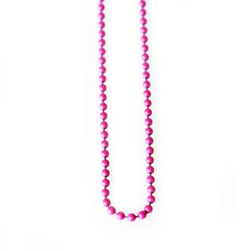 Pink Ball Necklace for memory lockets - 30 inch long