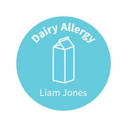 .Personalised School Labels Dairy - Carnival - Labels Allergy 30 labels free shipping