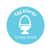 .Personalised School Labels Egg - Confetti - Labels Allergy 30 labels free shipping